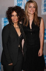 With girlfriend Linda Perry